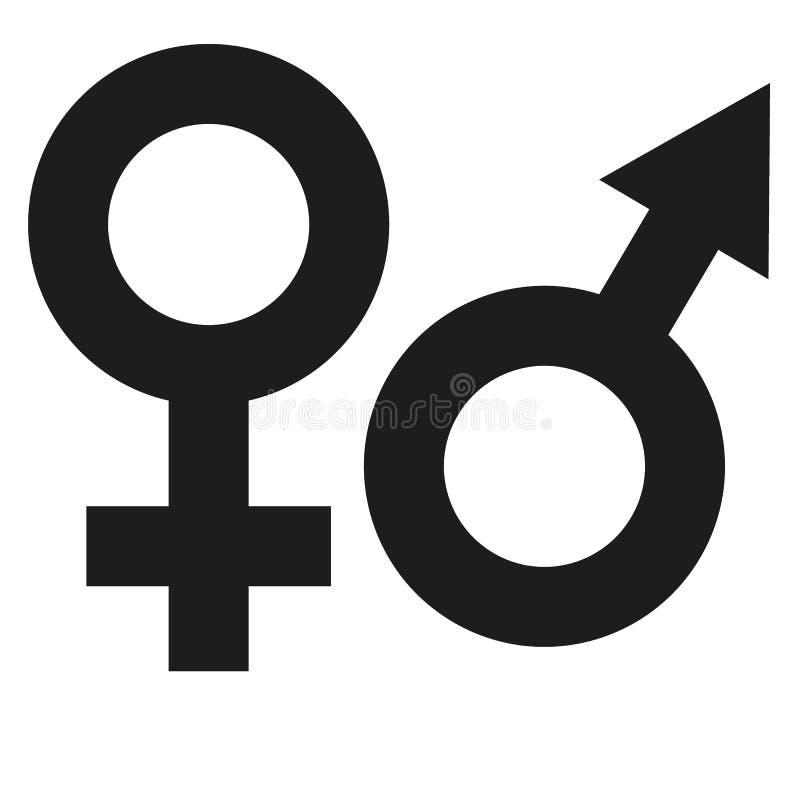 Αρσενικό και θηλυκό λογότυπο φύλων ελεύθερη απεικόνιση δικαιώματος