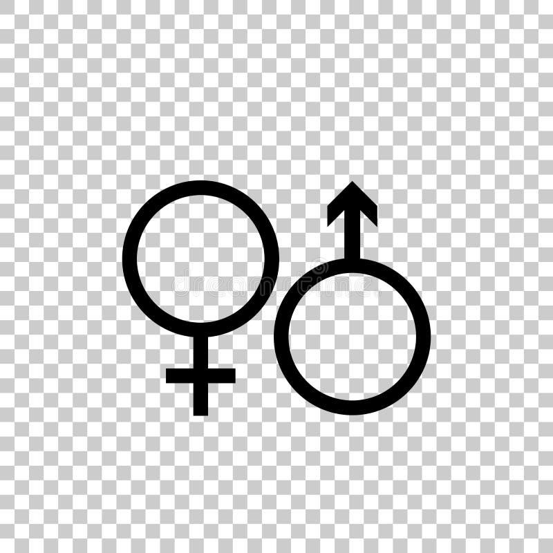 Αρσενικό και θηλυκό σύνολο συμβόλων διάνυσμα εικονιδίων εργαλείων ελεύθερη απεικόνιση δικαιώματος