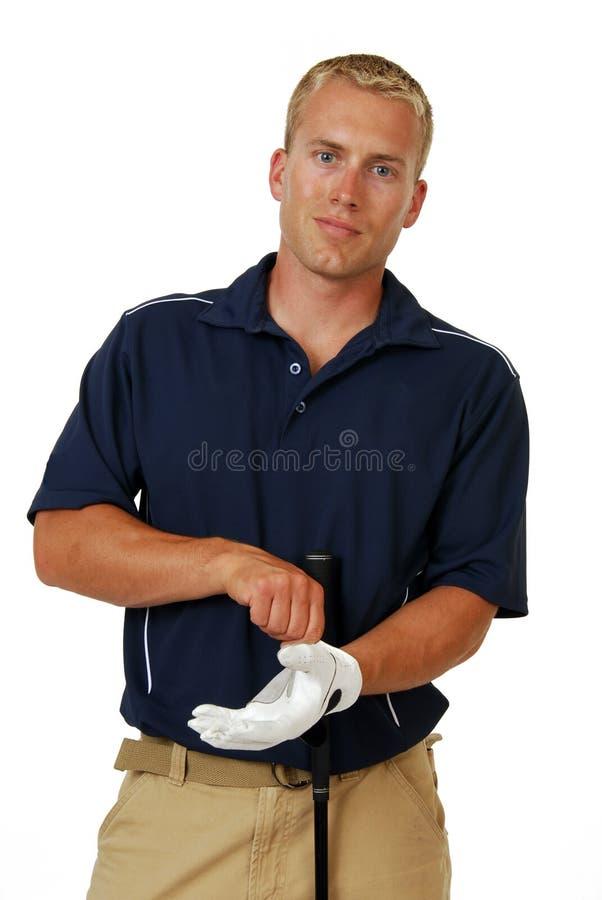 αρσενικό παικτών γκολφ στοκ φωτογραφία