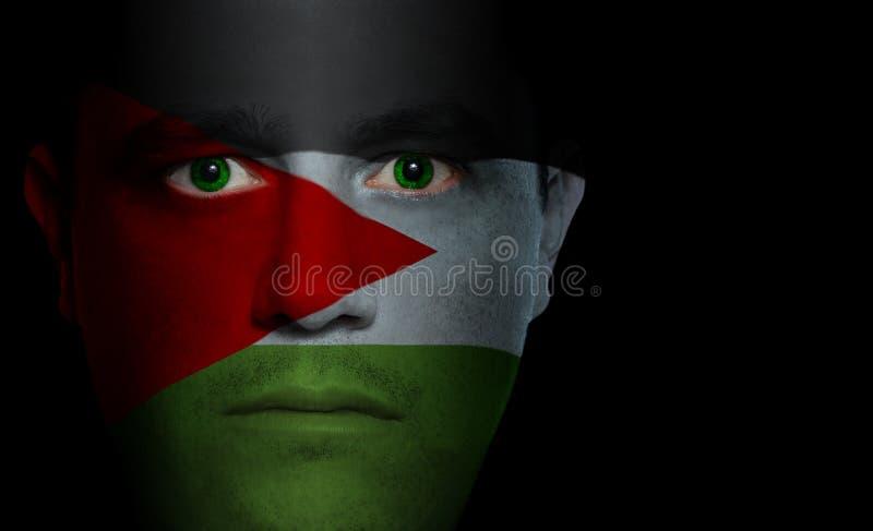 αρσενικό σημαιών προσώπου στοκ φωτογραφία με δικαίωμα ελεύθερης χρήσης