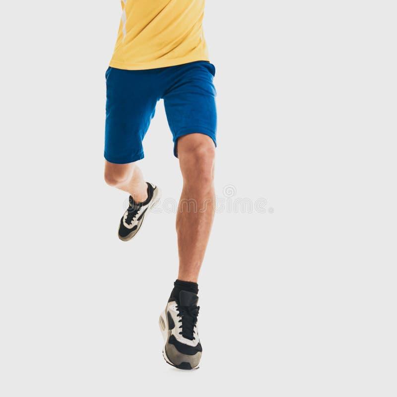 Αρσενικό τρέξιμο αθλητών στοκ φωτογραφία