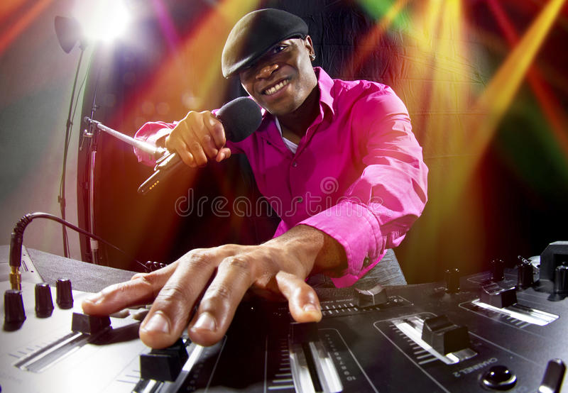 Αρσενικό DJ στοκ εικόνες