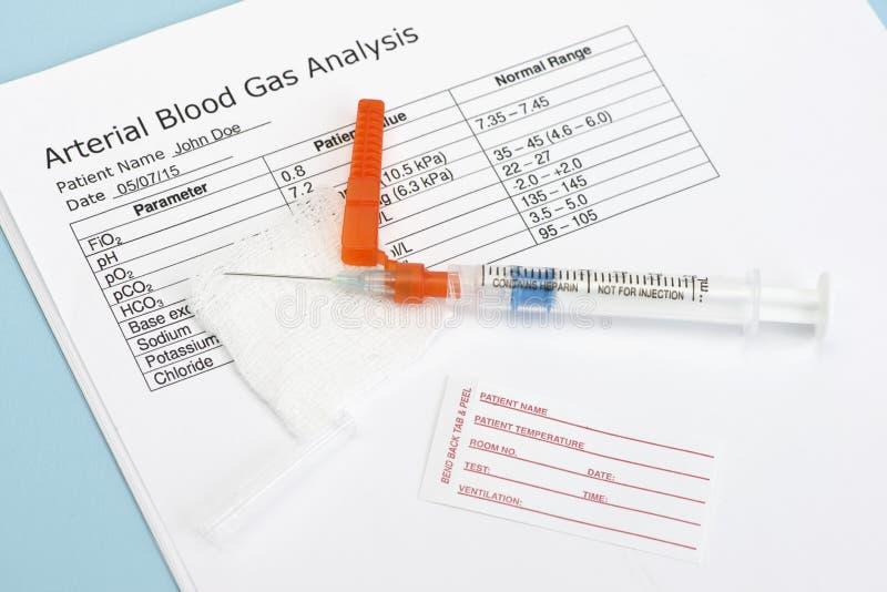 Αρτηριακή σύριγγα αερίου αίματος στοκ φωτογραφίες