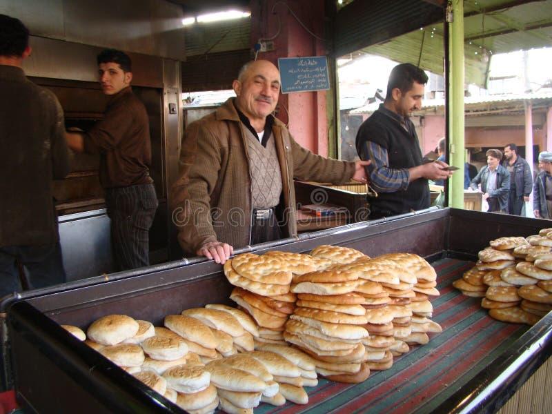 Αρτοποιείο σε στο κέντρο της πόλης Erbil, Ιράκ στοκ φωτογραφία με δικαίωμα ελεύθερης χρήσης