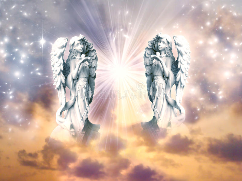 Αρχάγγελοι αγγέλων διανυσματική απεικόνιση