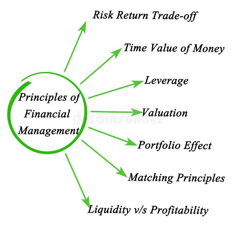 Αρχές της οικονομικής διαχείρισης διανυσματική απεικόνιση
