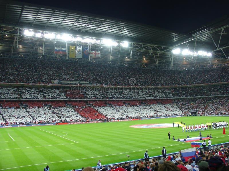 Αρχή του αγώνα ποδοσφαίρου. στοκ φωτογραφίες με δικαίωμα ελεύθερης χρήσης