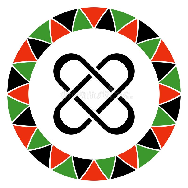 Αρχή Kwanzaa της ενότητας ελεύθερη απεικόνιση δικαιώματος