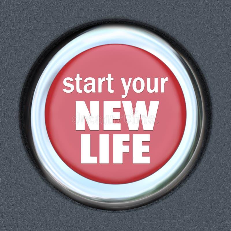 Αρχίστε μια νέα αρχή αναστοιχειοθέτησης Τύπου κουμπιών ζωής κόκκινη ελεύθερη απεικόνιση δικαιώματος