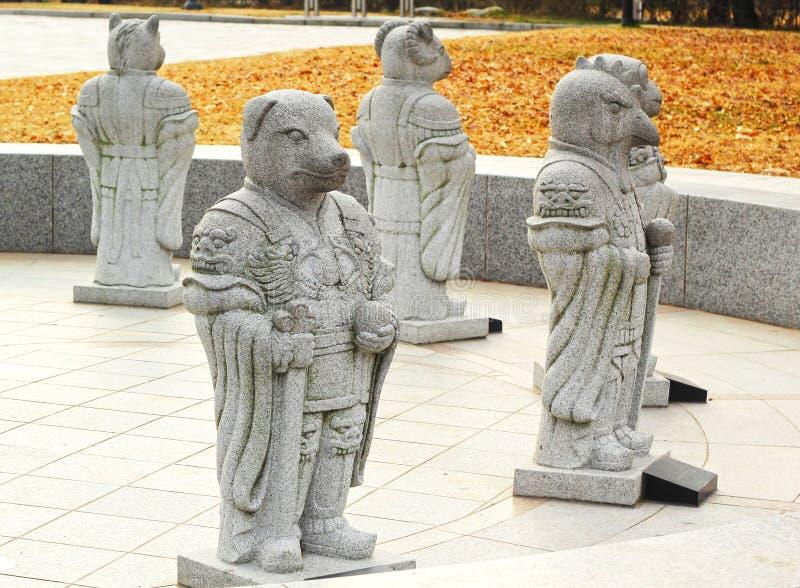 Αρχαία αγάλματα στη Νότια Κορέα στοκ εικόνα