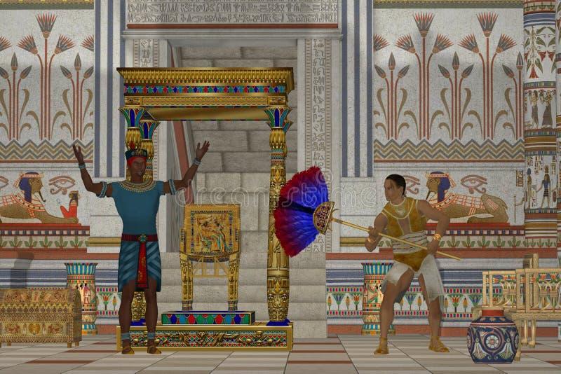 Αρχαία αιγυπτιακά άτομα διανυσματική απεικόνιση