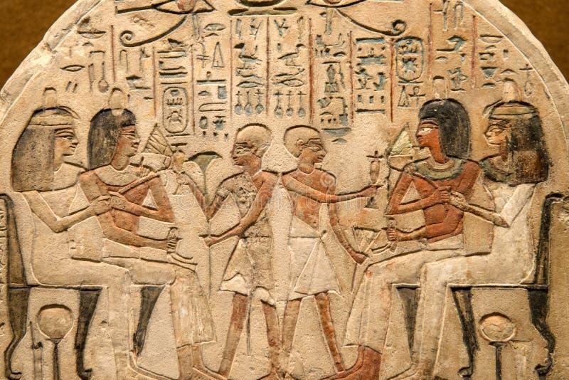 αρχαία αιγυπτιακά hieroglyphs Θεών στοκ εικόνα