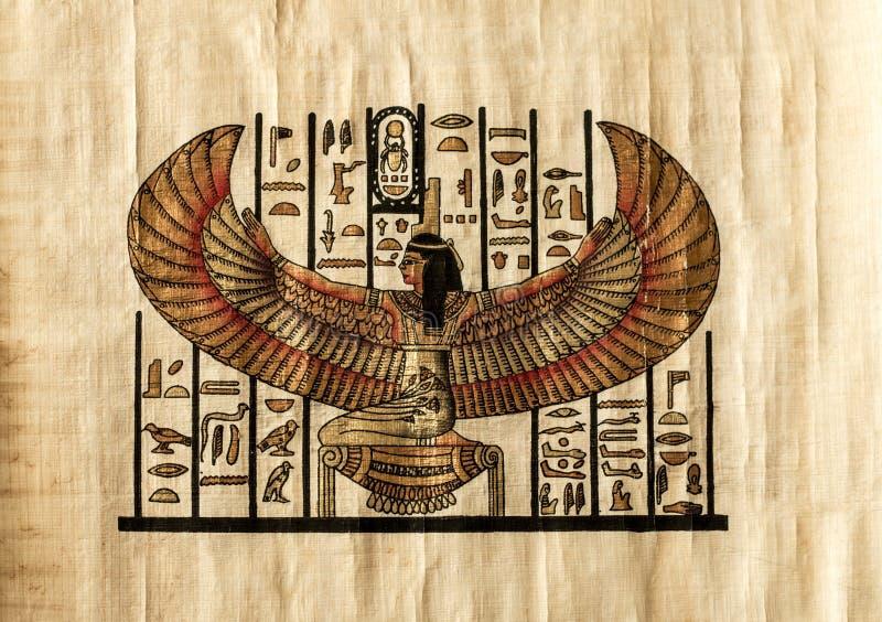 Αρχαία αιγυπτιακή περγαμηνή στοκ φωτογραφία με δικαίωμα ελεύθερης χρήσης