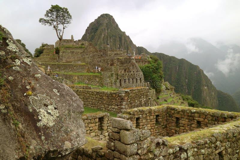 Αρχαία ακρόπολη Inca Machu Picchu, η νέα κατάπληξη επτά του κόσμου στην περιοχή Cusco, επαρχία Urubamba, Περού στοκ εικόνες