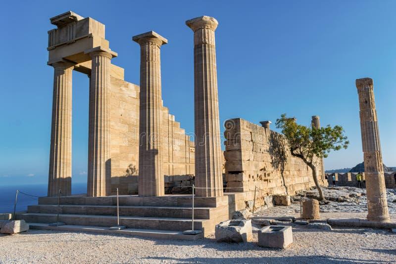 Αρχαία ακρόπολη Lindos στοκ φωτογραφίες