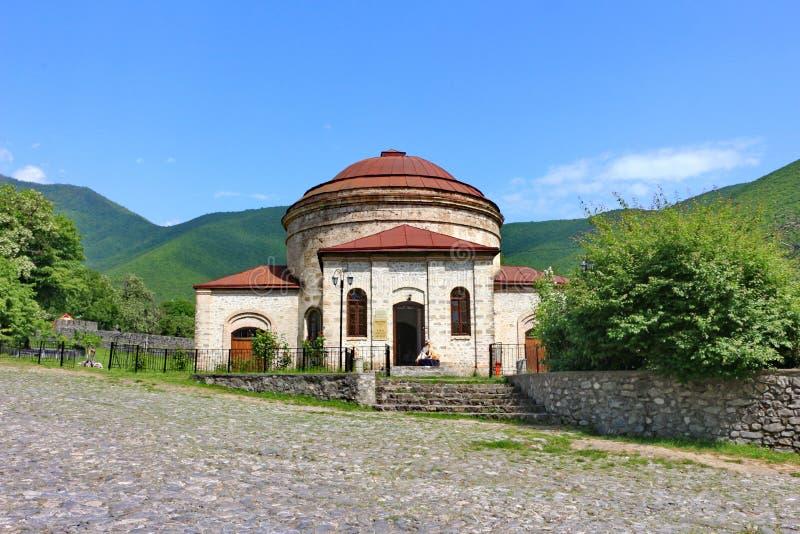Αρχαία αλβανική εκκλησία στην του Αζερμπαϊτζάν πόλη Sheki στοκ φωτογραφία με δικαίωμα ελεύθερης χρήσης