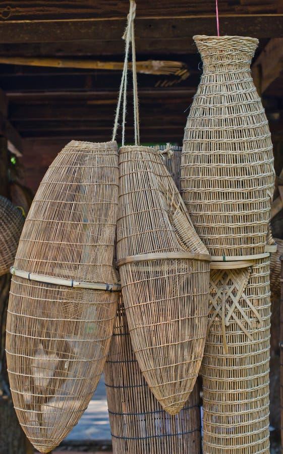 αρχαία αλιεία εξοπλισμού στοκ φωτογραφίες