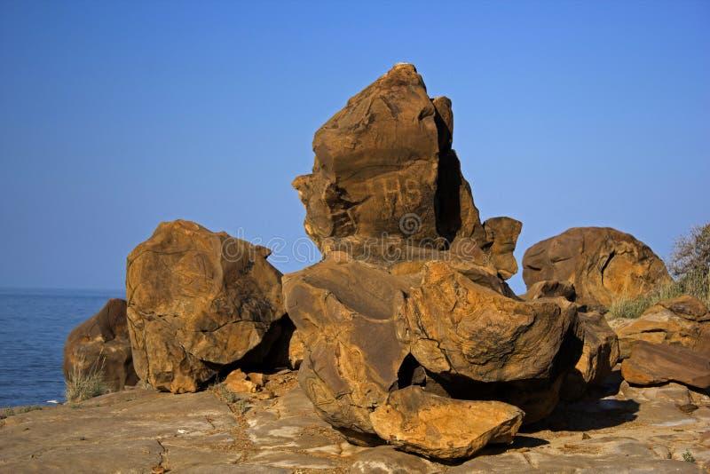 Αρχαία απολιθώματα σε Kutch, Ινδία στοκ εικόνα