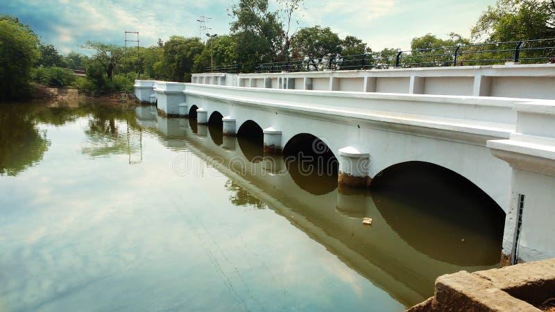 Αρχαία αρχιτεκτονική γεφυρών ποταμών Puducheery στοκ φωτογραφίες με δικαίωμα ελεύθερης χρήσης