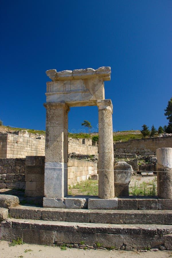 Αρχαία αρχιτεκτονική Kamiros Rhodos Ελλάδα ιστορική στοκ φωτογραφίες