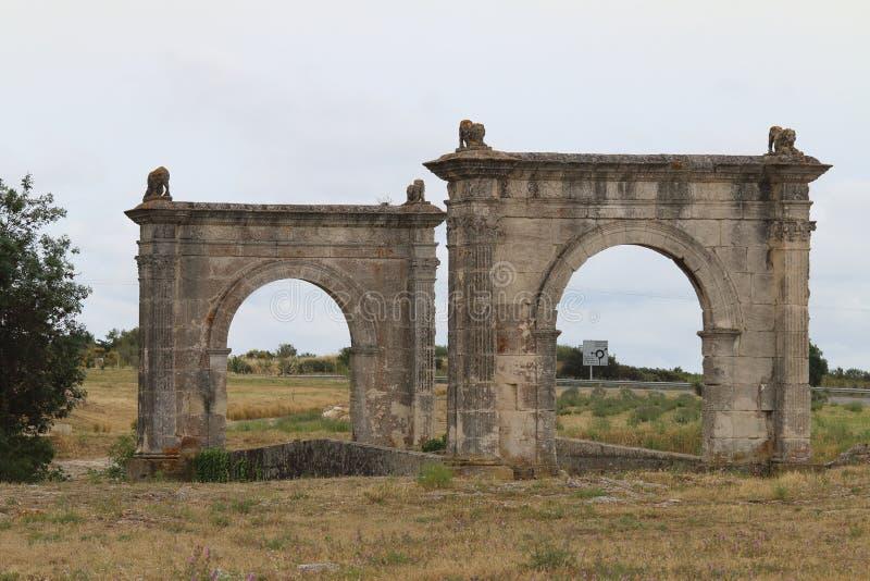 Αρχαία γέφυρα του Flavien κοντά σε Άγιος-Chamas, Γαλλία στοκ εικόνες με δικαίωμα ελεύθερης χρήσης