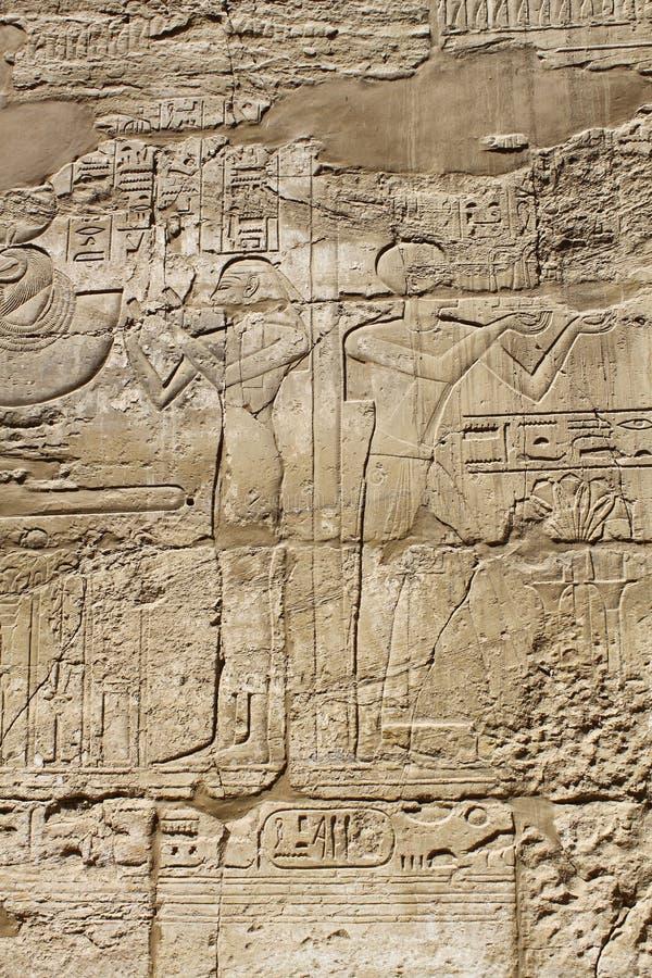 Αρχαία εικόνες και hieroglyphics της Αιγύπτου στοκ εικόνες με δικαίωμα ελεύθερης χρήσης