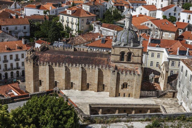 Αρχαία εκκλησία πετρών στην Κοΐμπρα, Πορτογαλία στοκ φωτογραφία με δικαίωμα ελεύθερης χρήσης
