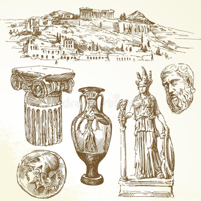 Αρχαία Ελλάδα διανυσματική απεικόνιση