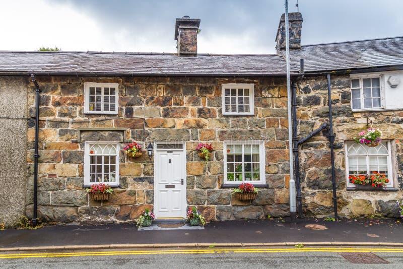 Αρχαία εξοχικά σπίτια Snowdonia NP, Ουαλία, UK στοκ εικόνες