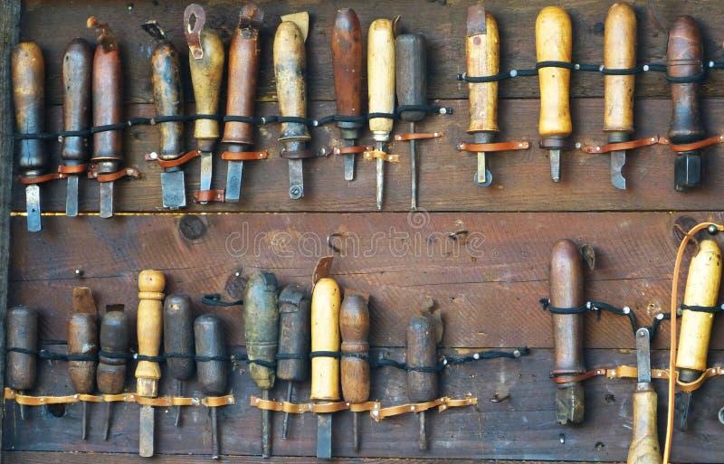 Αρχαία εργαλεία για το λειτουργώντας ξύλο στοκ φωτογραφίες με δικαίωμα ελεύθερης χρήσης