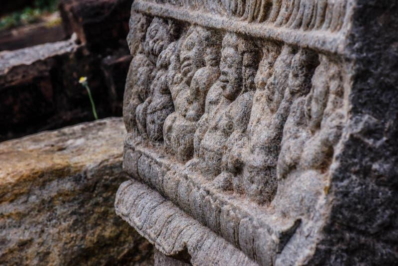 Αρχαία ερείπια στη Σρι Λάνκα στοκ φωτογραφίες
