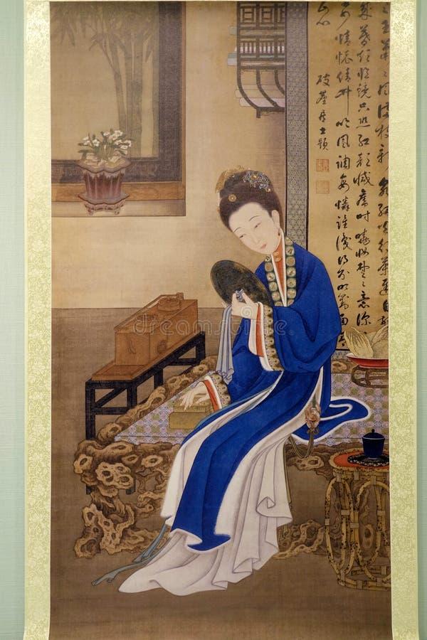 Αρχαία ζωγραφική ραχών στοκ φωτογραφία με δικαίωμα ελεύθερης χρήσης
