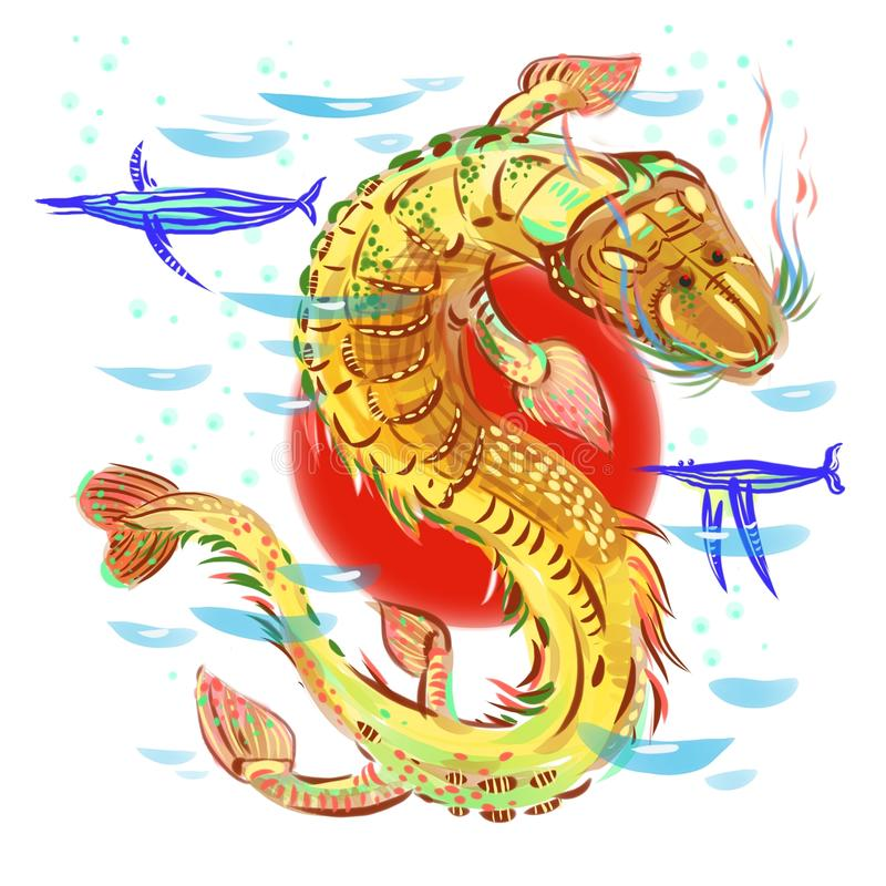 Αρχαία θάλασσα 3 ελεύθερη απεικόνιση δικαιώματος