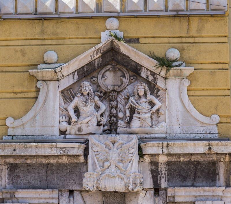 Αρχαία διακόσμηση οικοδόμησης στοκ εικόνες