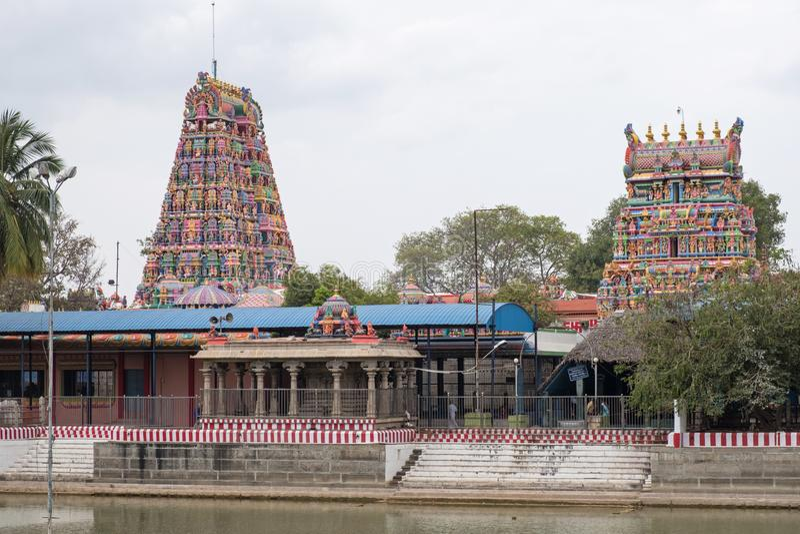 Αρχαία ινδά κτήρια ναών στο Tamil Nadu στοκ εικόνες