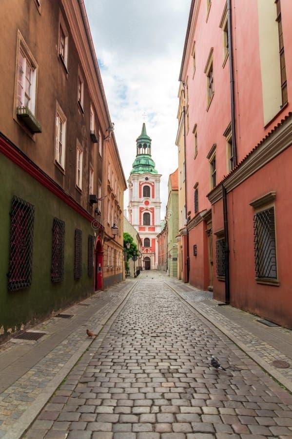 Αρχαία ιστορική αρχιτεκτονική στην πόλη του Πόζναν, Πολωνία στοκ εικόνα με δικαίωμα ελεύθερης χρήσης