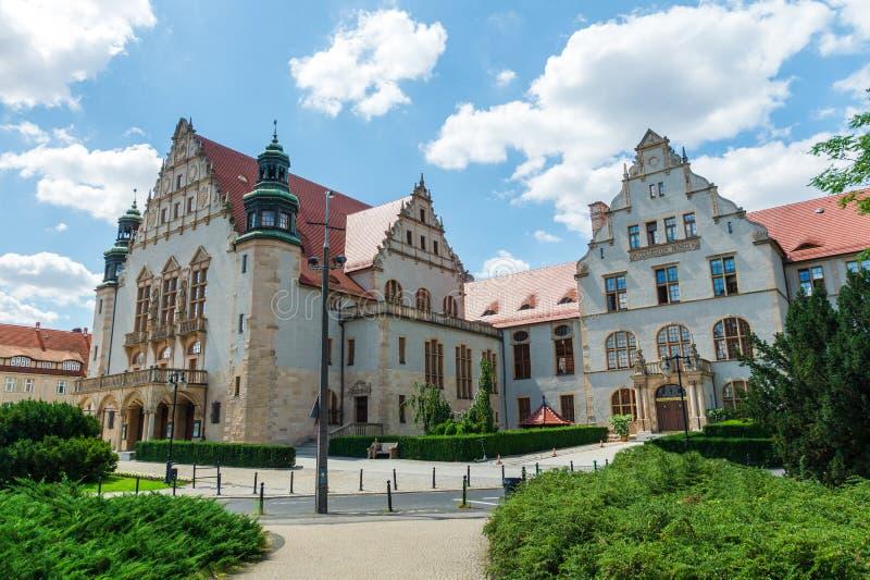 Αρχαία ιστορική αρχιτεκτονική στην πόλη του Πόζναν, Πολωνία στοκ φωτογραφία