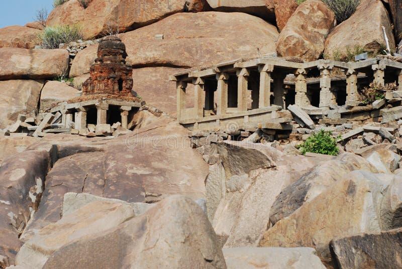Αρχαία καταστροφή Hampi στοκ φωτογραφίες