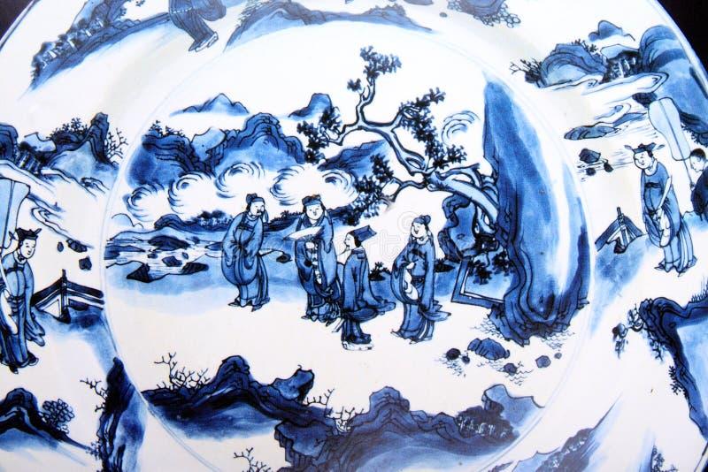 αρχαία κινεζική ζωγραφικ στοκ εικόνα