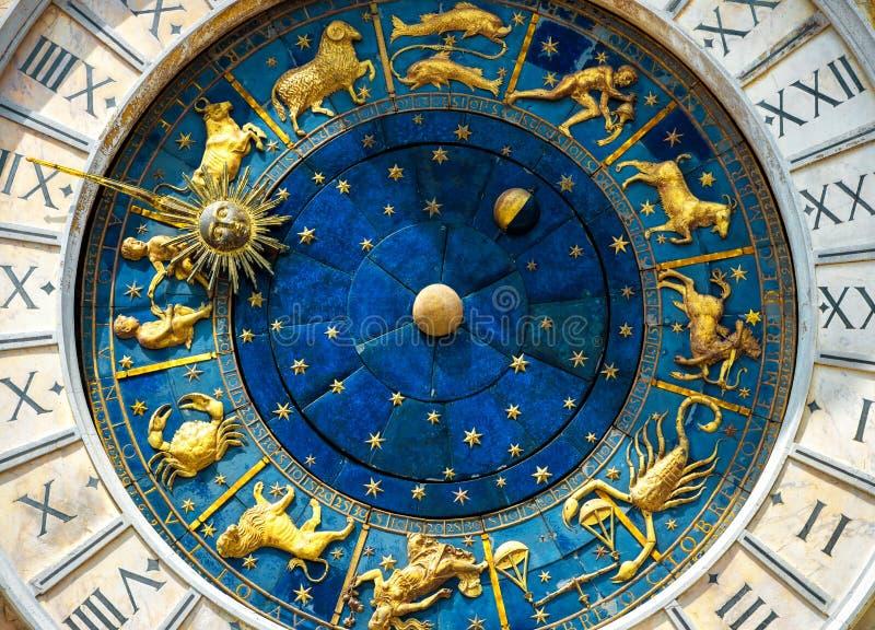 Αρχαία κοιλάδα ` Orologio Torre ρολογιών στη Βενετία στοκ εικόνες