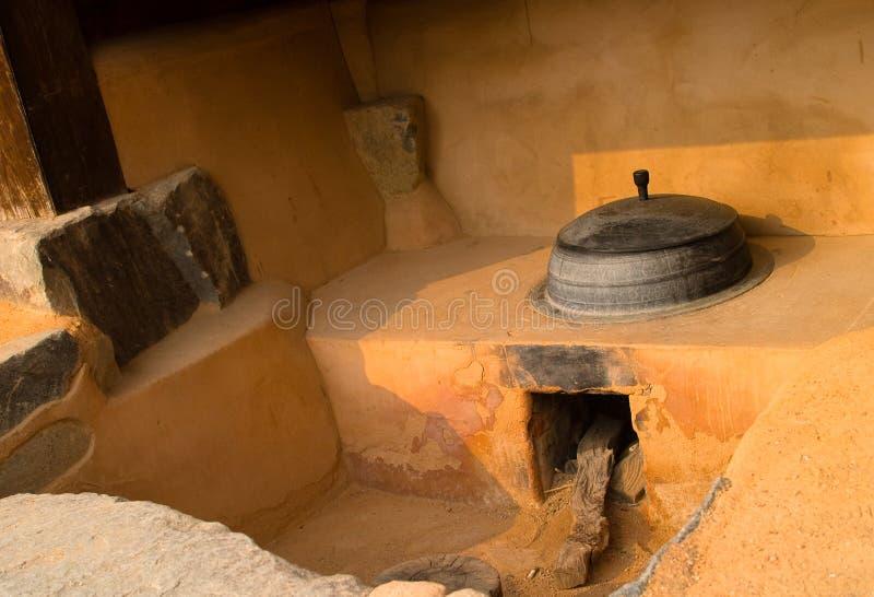 αρχαία κουζίνα Κορεάτης στοκ φωτογραφία με δικαίωμα ελεύθερης χρήσης