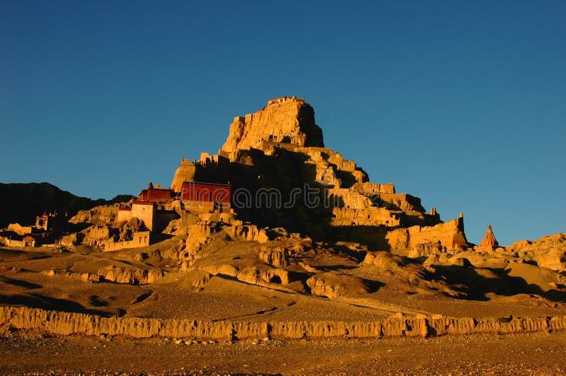 αρχαία λείψανα Θιβέτ κάστρων στοκ φωτογραφίες