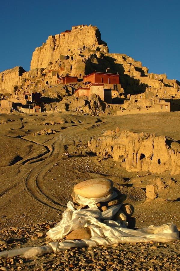 αρχαία λείψανα Θιβετιανό&sig στοκ εικόνα