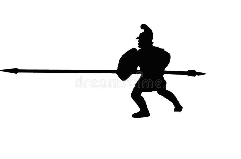 Αρχαία μακεδονική σκιαγραφία phalangite ελεύθερη απεικόνιση δικαιώματος