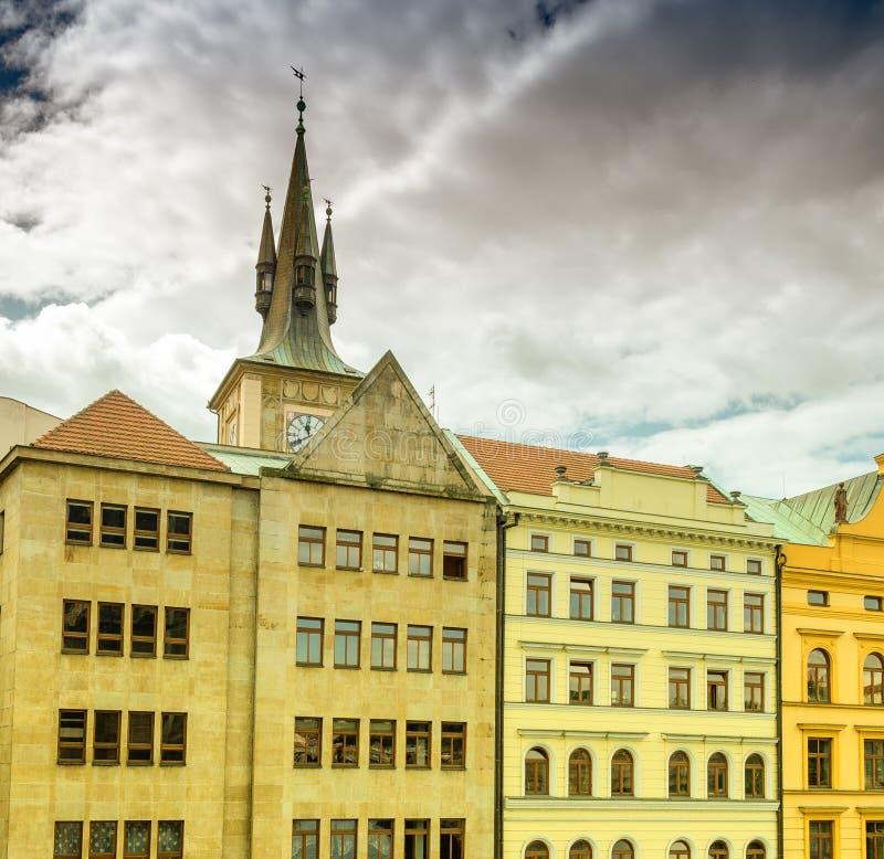 Αρχαία μεσαιωνική αρχιτεκτονική της Πράγας, Δημοκρατία της Τσεχίας, Ευρώπη στοκ φωτογραφία με δικαίωμα ελεύθερης χρήσης