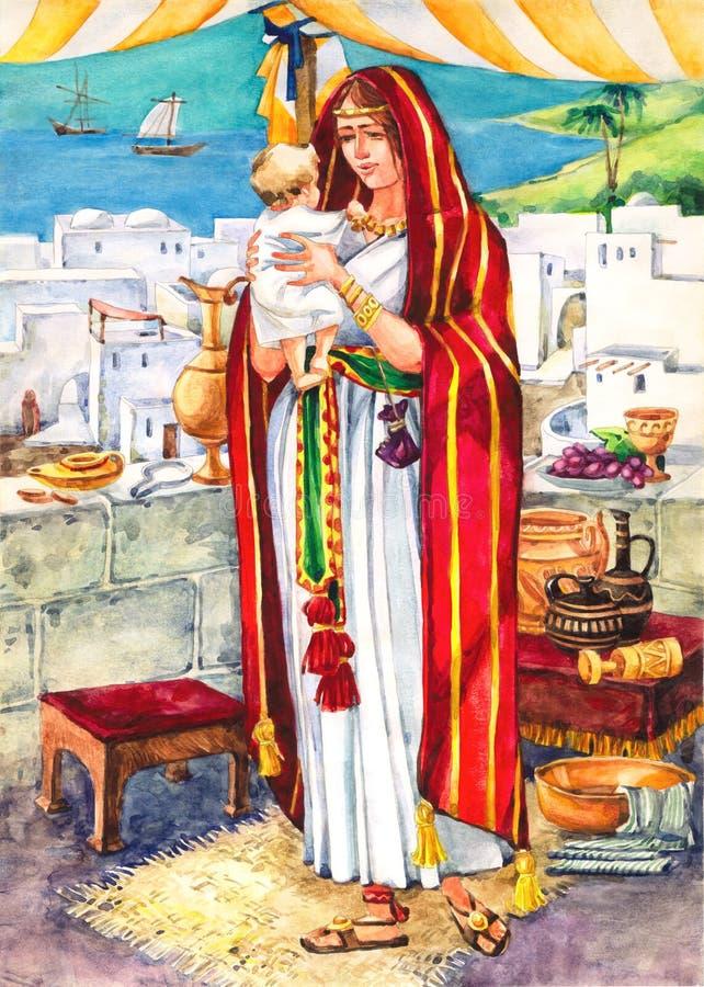 αρχαία μητέρα του Ισραήλ απεικόνιση αποθεμάτων