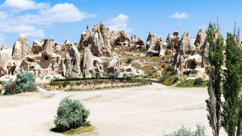αρχαία μοναστική τακτοποίηση κοντά στην πόλη Goreme στοκ φωτογραφία με δικαίωμα ελεύθερης χρήσης