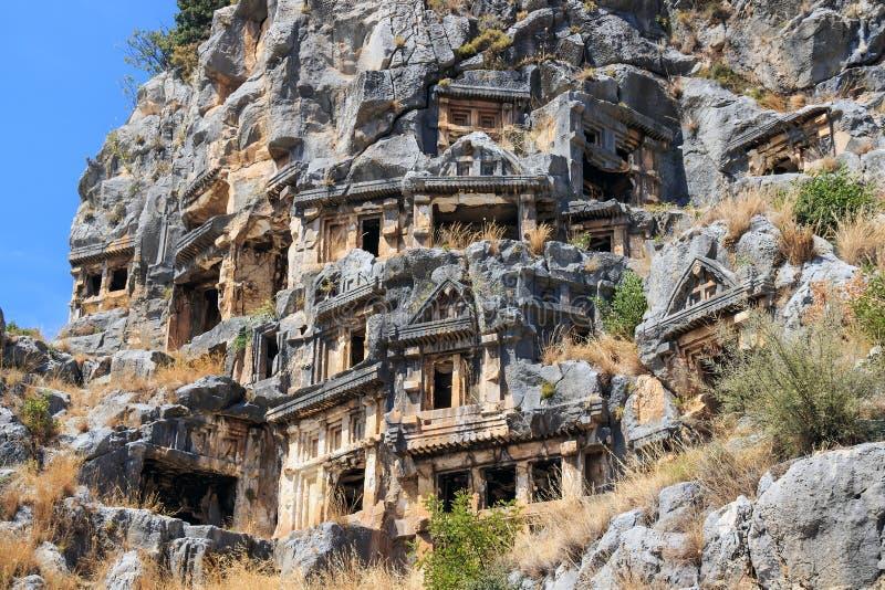 Αρχαία νεκρόπολη, Demre, Τουρκία στοκ φωτογραφία