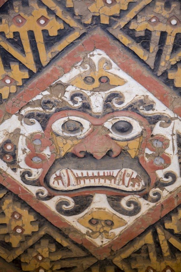 Αρχαία νωπογραφία Huaca de Λα Luna, Trujillo στοκ εικόνα