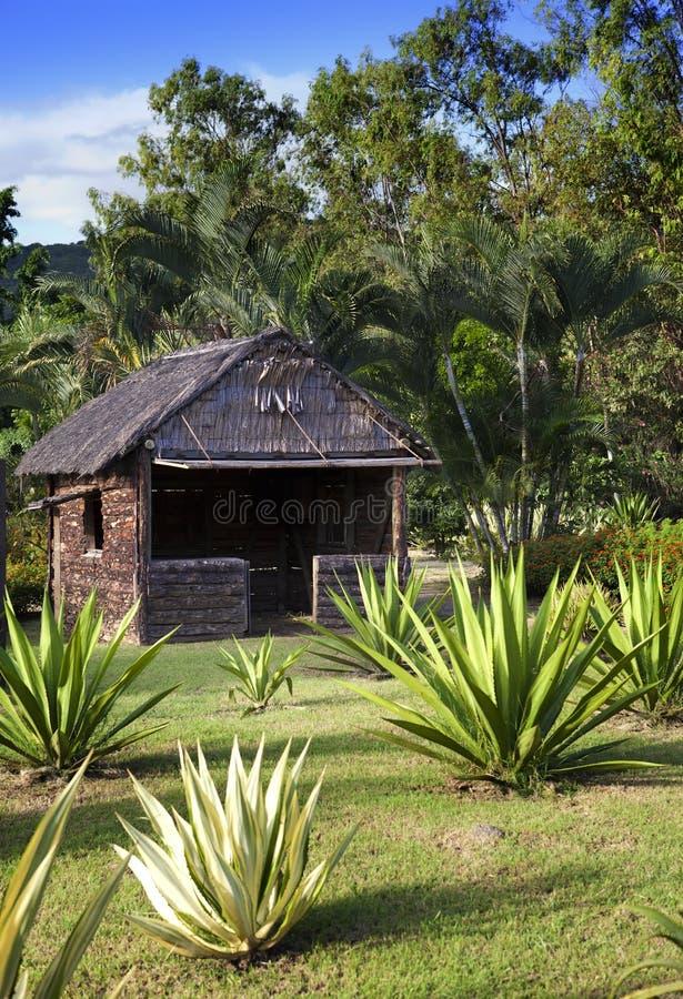 Αρχαία ξύλινη καλύβα στο πάρκο - έτσι που βιώνεται στο Μαυρίκιο νωρίτερα στοκ εικόνες με δικαίωμα ελεύθερης χρήσης